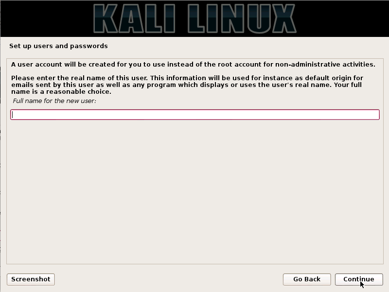 How To Install Kali Linux On Hard Disk 1