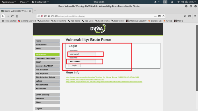 DVWA Brute Force Page  - DVWA Brute Force Burp Suite Tutorial 9 696x391 - DVWA Brute Force Low Security : Burp Suite