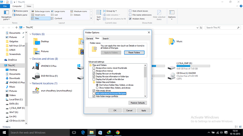 Hidden File extension 2