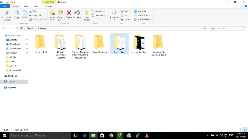 ScreenShot Folder Location