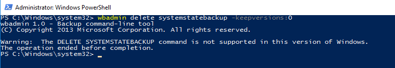 system volume information delete backup
